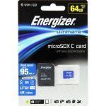 Energizer Ultimate Carte MicroSDXC 64 Go Class 10 avec adapteur