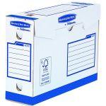 Fellowes 4472702 - Lot de 20 boîtes à archives Bankers Box Heavy Duty, larg. 100 mm, coloris blanc/bleu