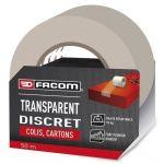 Facom Adhésif d'emballage transparent 50m x 48mm - Adhésif d'emballage transparent 50m x 48mm - Comvient pour les emballages de colis et cartons.