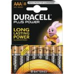 Duracell 8 piles AAA LR03 1.5V Plus Power