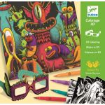 Djeco Coloriage effet 3D - Funny Freaks