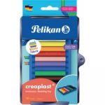 Pelikan Kreativfabrik Pâte à modeler Creaplast, 10 couleurs - Lot de 4