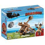 Playmobil 9245 Dragons - Gueulfor avec Catapulte