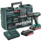 Metabo Atelier mobile SB 18 Li-Ion - Perceuse-visseuse à percussion sans fil 18V 2Ah + 2 batteries + mallette
