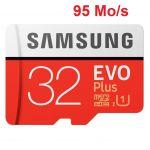 Samsung Carte mémoire micro SD Evo 32 Go avec adaptateur SD