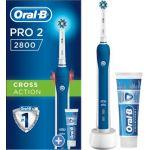 Oral-B Pro 2800 Cross Action Bleu - Brosse à dents électrique + 1 Dent Pro