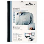 Durable 8334-02 - 240 badges adhésifs BADGEFIX, en tissu blanc 40 x 75 mm (12 planches de 27)