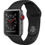 Apple Watch Series 3 + Cellular - 38mm - Alu Gris/Noir