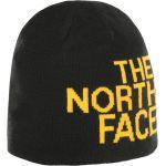 The North Face Reversible TNF Banner Bonnet, tnf black/tnf yellw logo xl Bonnets sports d'hiver