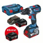 Bosch Perceuse-visseuse sans fil GSR 18V-60 C Professional + 3 × 4,0-Ah-batteries + L-BOXX - 0615990K6G