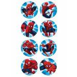 16 mini disques en sucre Spiderman 3,4 cm