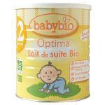 BabyBio Lait de suite Optima n°2 900g - dès 6 mois