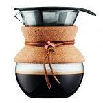 Bodum Pour Over liège 0.5 l - Cafetière avec filtre finition