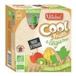 Vitabio Cool Fruits & Légumes bio banane kiwi épinard 4 x 90 g