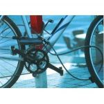 Bicyclette CKAMS Antivol de v/élo Antivol en U pour v/élo Combinaison Acier c/âble et Support de Montage Robuste pour V/élo Trotinette Moto