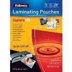 Fellowes 100 pochettes de plastification à chaud format A4 (125 µ)