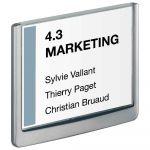 Durable Plaque de porte Click Sign format A6 paysage coloris graphite