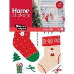 Draeger Sticker fenêtre chaussettes de Noël