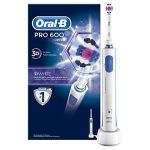 Braun Oral-B Pro 600 White & Clean - Brosse à Dents Électrique Rechargeable