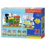 Castorland Puzzle éducatif  : Train des animaux (21 pièces)