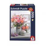 Schmidt Puzzle 1000 pièces : Style campagnard et roses