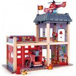 Hape Playset Grande Caserne de Pompiers