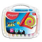 Maped Boîte de 10 craies gel Smoothy ColorPeps assorties