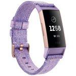 Fitbit Charge 3 - Bracelet d'activité forme et sport - Edition spéciale - aluminium or rose/tissé lavande