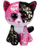 Jura Flippables Small - Peluche sequins Malibu le chat 15cm