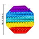 Couleur 6 Anti stress Bulles de grande taille 20cm Popit Poussez jouets, Anti Stress Sensoriel