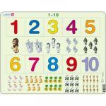 Larsen Puzzle Cadre - Apprendre à Compter : Les Chiffres de 1 à 10
