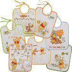 Babycalin 7 bavoirs Winnie l'Ourson fermeture à lacets