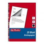 Herlitz 10303725 Lot de 25 feuilles de papier carbone pour machine à écrire A4 (Noir) (Import Allemagne)