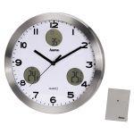 """Hama 113982 - Horloge murale """"AG-300"""" avec station météorologique"""