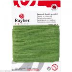 Rayher Fil de coton ciré 1 mm - Vert x 20 m