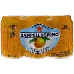 San Pellegrino Eau minérale naturelle gazeuse arômatisée au jus d'orange