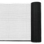 VidaXL Maille de clôture de jardin PEHD 10x0,6 m Noir