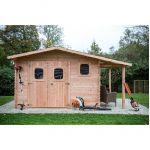 Habrita Abri de jardin bois Douglas Dom 3530.02B 16.39m²/9.24m² Ep28mm