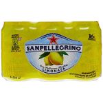San Pellegrino Eau minérale naturelle gazeuse arômatisée au jus de citron - Les 6 canettes de 33cl