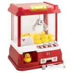 Sweet Distributeur avec Musique de Carnaval Coin Operated Relaxdays Candy Grabber Claw Machine Rouge Mini Hochet