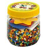 Hama Pot de 4000 perles à repasser avec 3 plaques