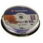 Verbatim 43818 - 10 DVD+R DL Cakebox 8x 5 Go Life Series