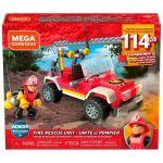 Mega Construx Wonder Builders Véhicule de Secours tout-terrain, jeu de construction, 114 briques, pour enfant dès 5 ans, GLK53