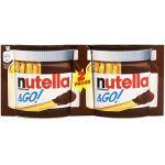 Ferrero Nutella & Go ! - Bâtonnets céréaliers et pâte à tartiner aux Noisettes et au Cacao 2 x 13 g