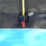 Klarfit Trampoline Rocketboy XXXL 400 cm avec filet de sécurité