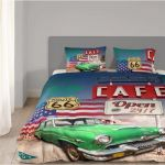 Good Morning California - Housse de couette et 2 taies 100% coton (220 x 240 cm)