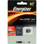 Energizer Classic Carte MicroSDHC 8 Go Class 10 avec adapteur