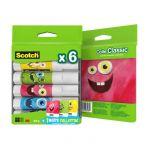 Scotch Lot de 6 bâtons de colle + 1 boîte Monster Box -