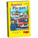 Haba Jeu de société Dominos Pin-Pon !