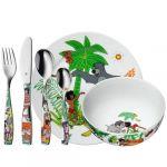 WMF Coffret vaisselle 6 pièces Livre de la Jungle porcelaine et inox